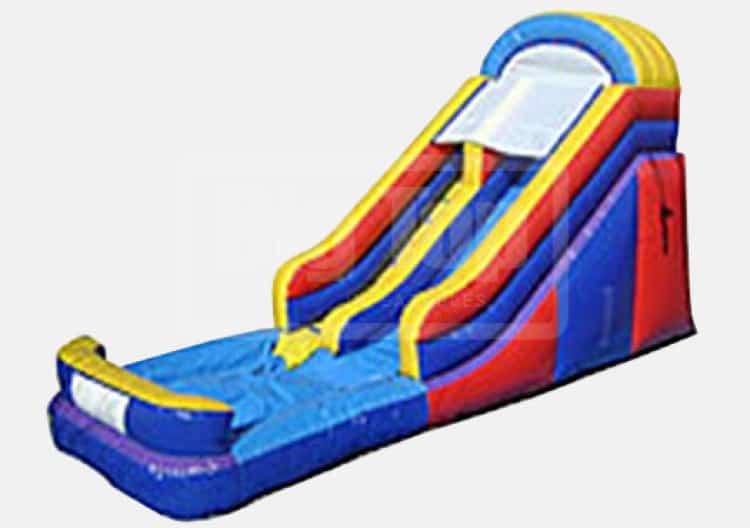 Red Blue Yellow 16 ft DRY slide